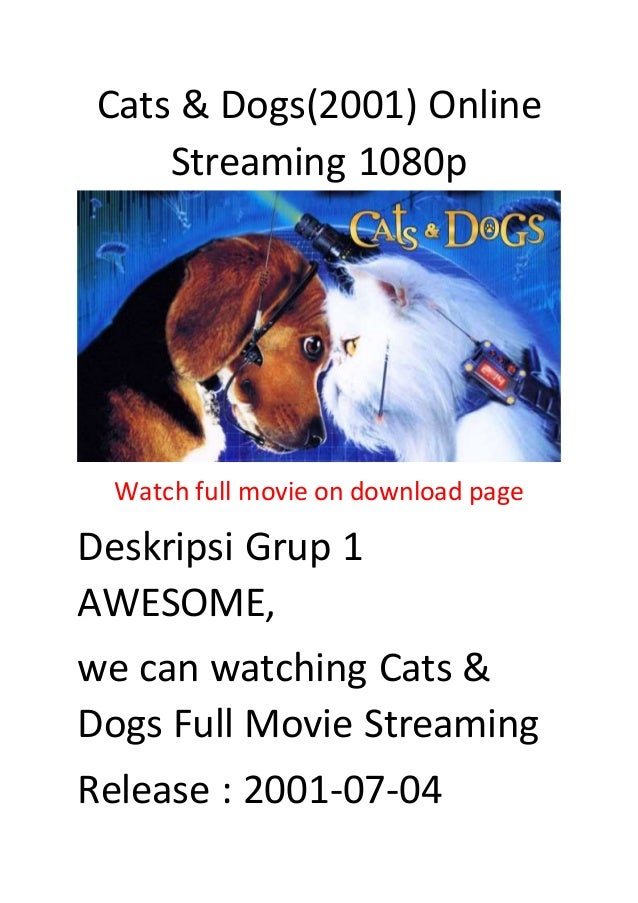 Cats Dogs 2001 Online Streaming 1080p Action Comedy Movies Hollyw