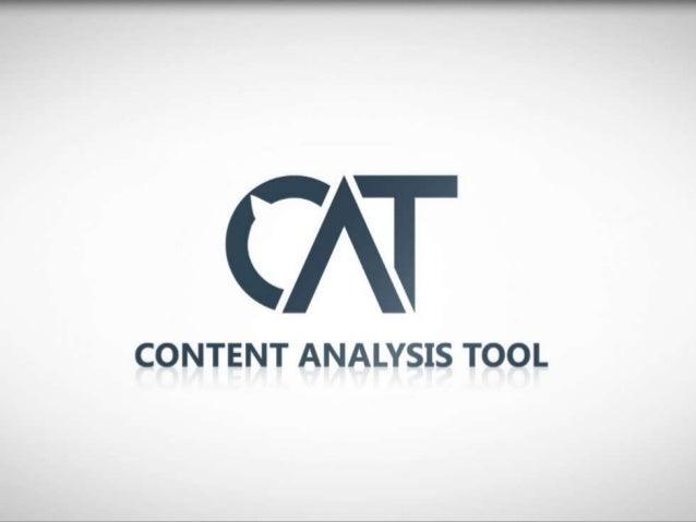 Content Analysis Tool CSForum 2012 Cape Town South Africa