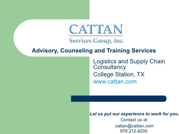 Advisory, Counseling and Training Services                    Logistics and Supply Chain                    Consultancy   ...