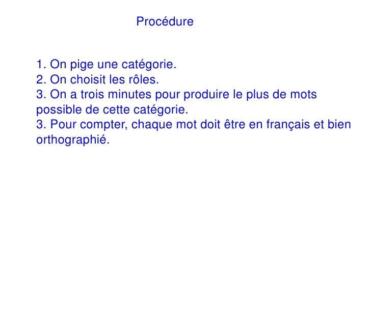 Cattégories Slide 3