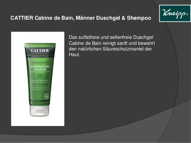 CATTIER Cabine de Bain, Männer Duschgel & Shampoo  Das sulfatfreie und seifenfreie Duschgel  Cabine de Bain reinigt sanft ...