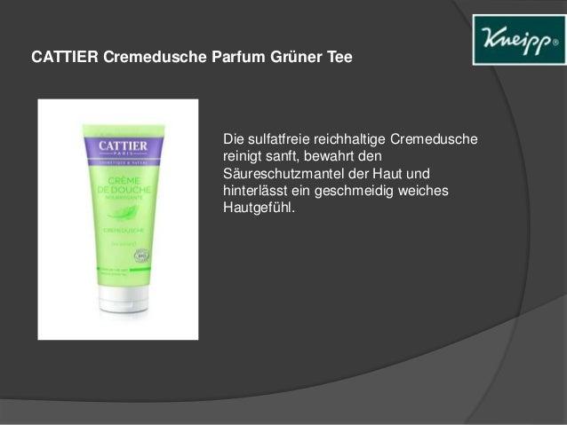 CATTIER Cremedusche Parfum Grüner Tee  Die sulfatfreie reichhaltige Cremedusche  reinigt sanft, bewahrt den  Säureschutzma...
