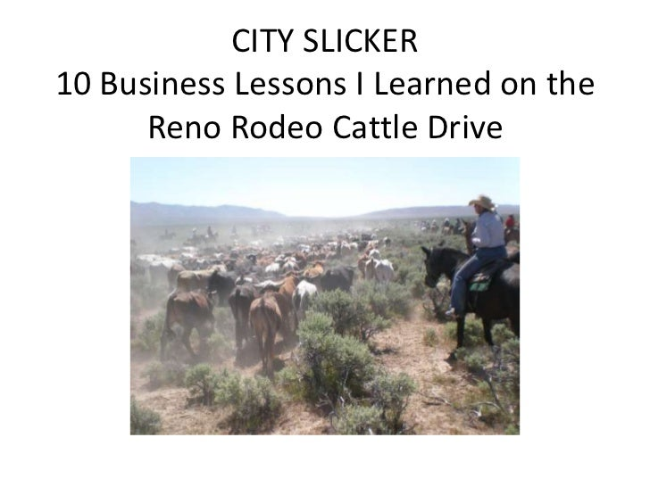 CITY SLICKER10 Business Lessons I Learned on the Reno Rodeo Cattle Drive<br />