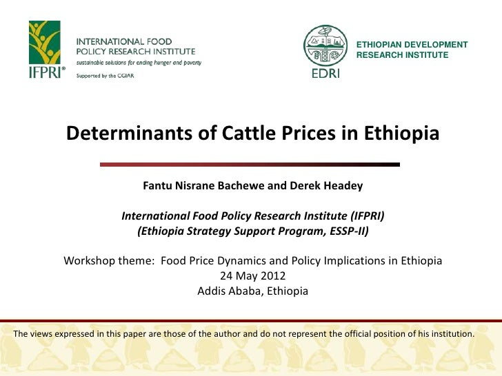 ETHIOPIAN DEVELOPMENT                                                                                         RESEARCH INS...