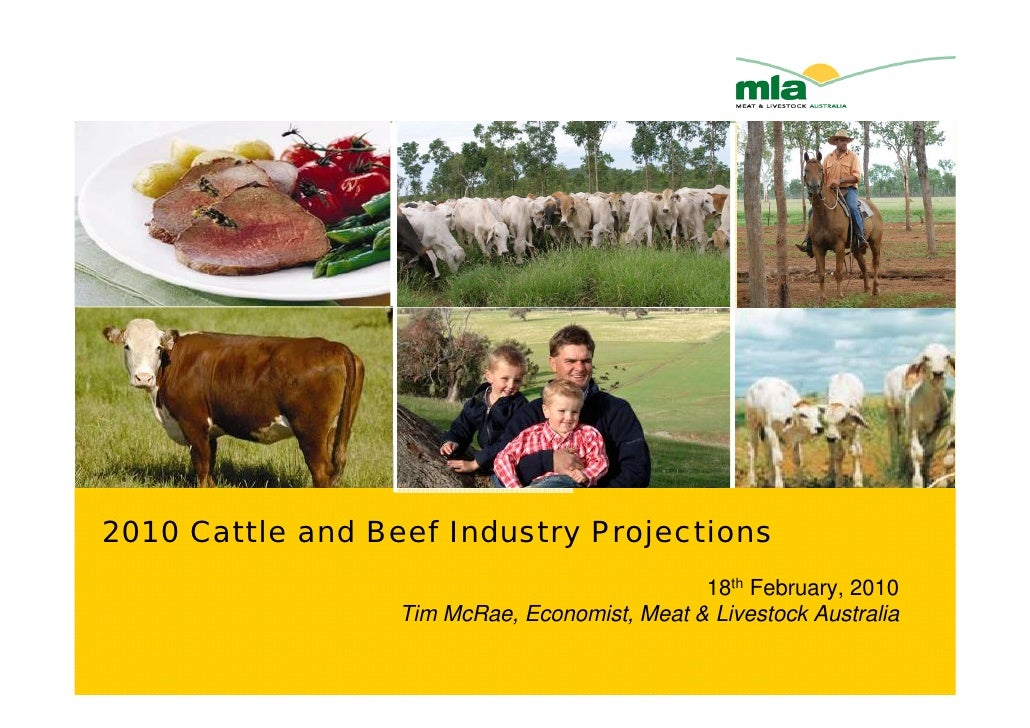 2010 Cattle and Beef Industry Projections                                               18th February, 2010               ...