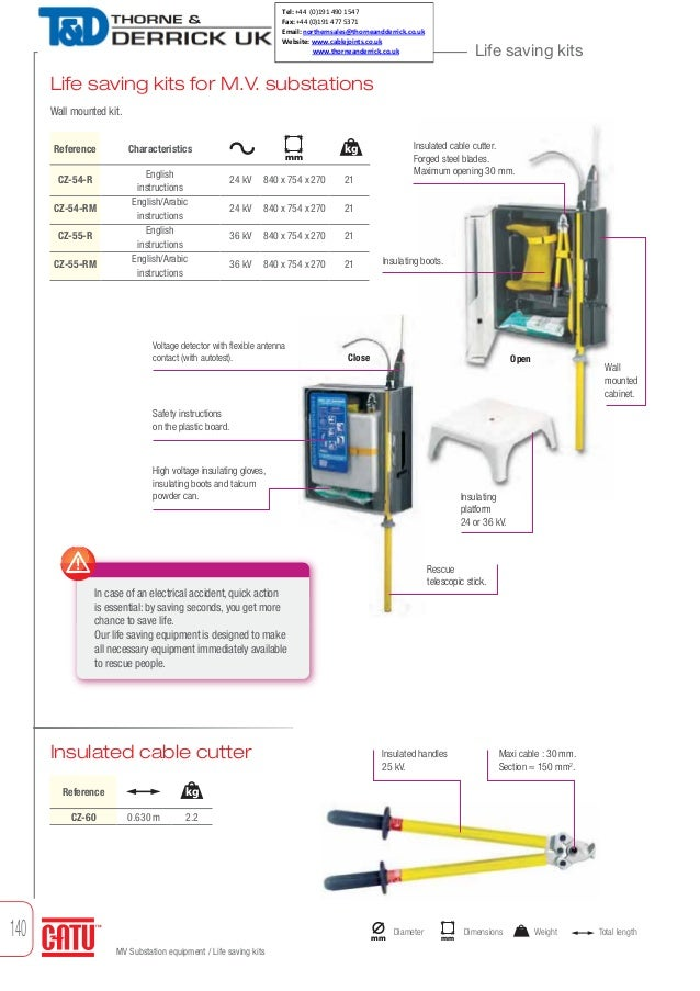 Catu Electrical Life Saving Kits For High Voltage Substations