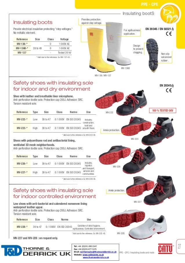 Catu Insulating Dielectric Boots