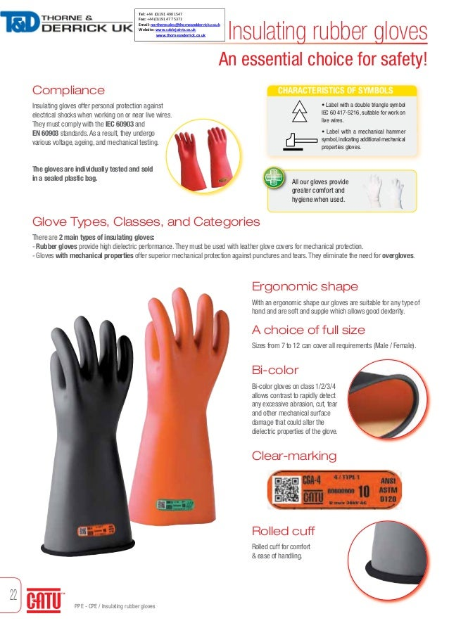 Testing High Voltage Rubber Gloves : Catu cg lv insulating rubber gloves