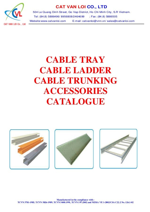 Cat Van Loi Cable Tray Cable Ladder Trunking Catalog