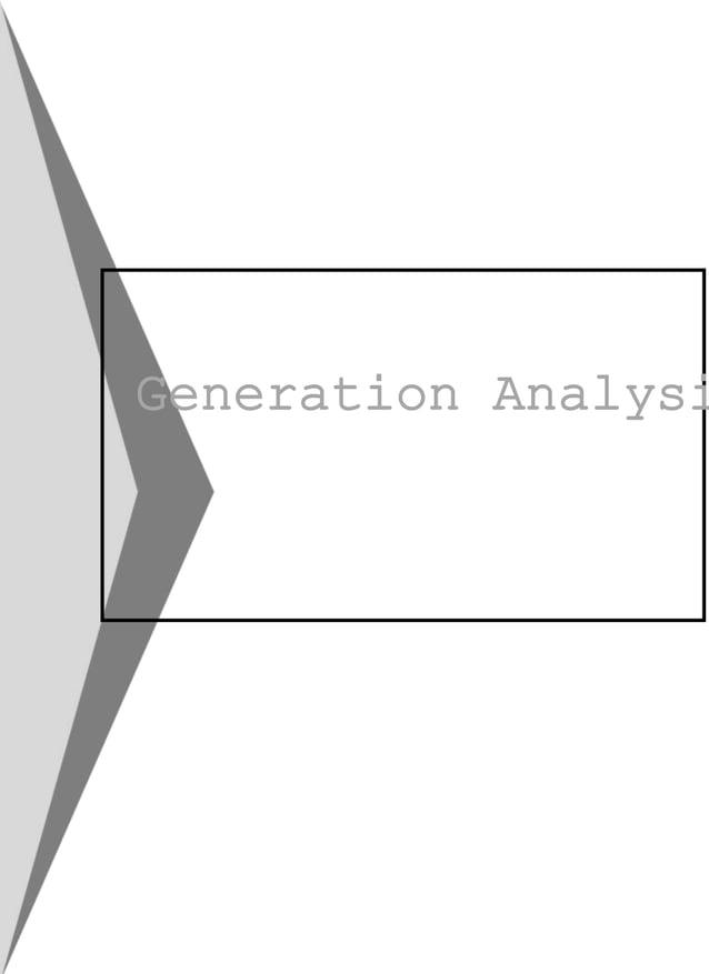 Generation Analysi