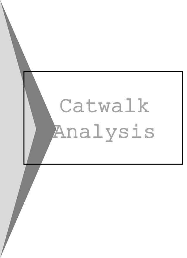 Catwalk Analysis