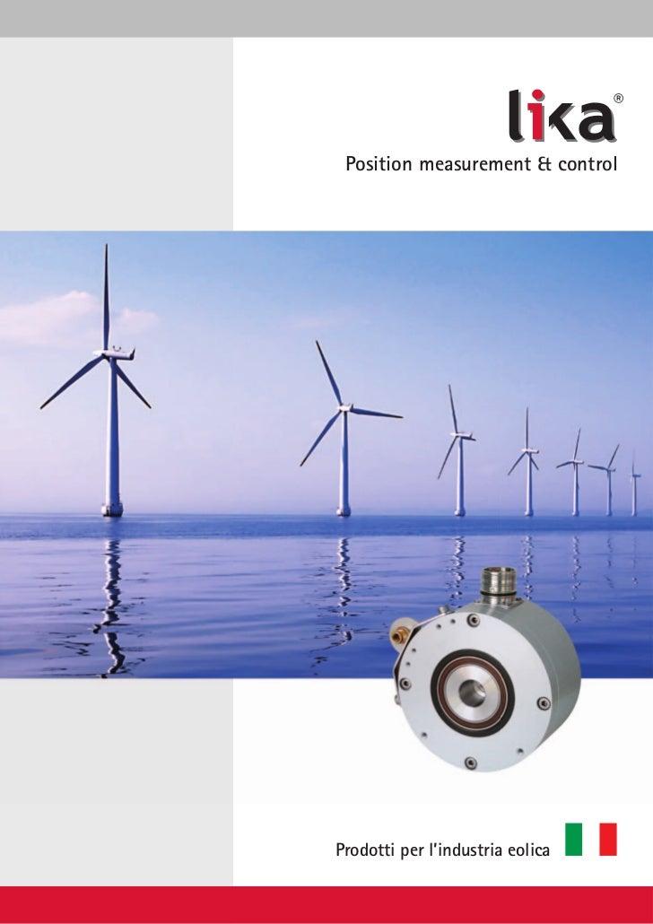 ® Position measurement & controlProdotti per l'industria eolica