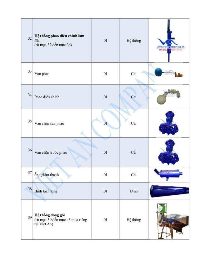 32 Hệ thống phao điều chỉnh làm  đá.  (từ mục 32 đến mục 36)  01 Hệ thống  33 Van phao 01 Cái  34 Phao điều chỉnh 01 Cái  ...
