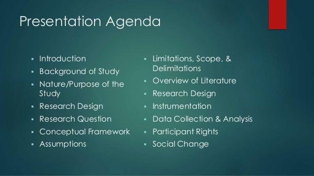 Dissertation proposal defense outline