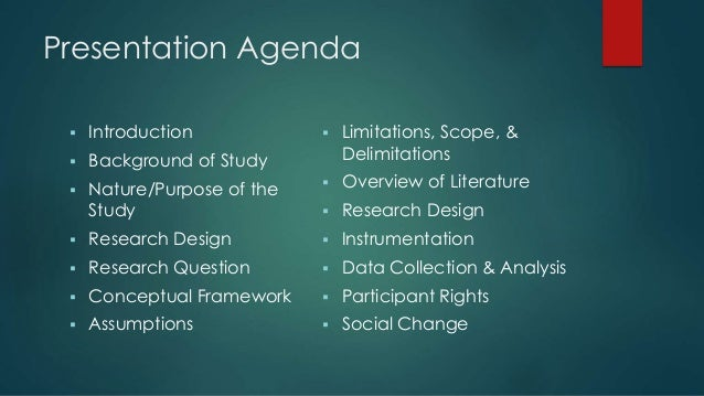 Dissertation prospectus defense powerpoint