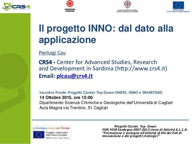 Il progetto INNO: dal dato alla applicazione - Pierluigi ...