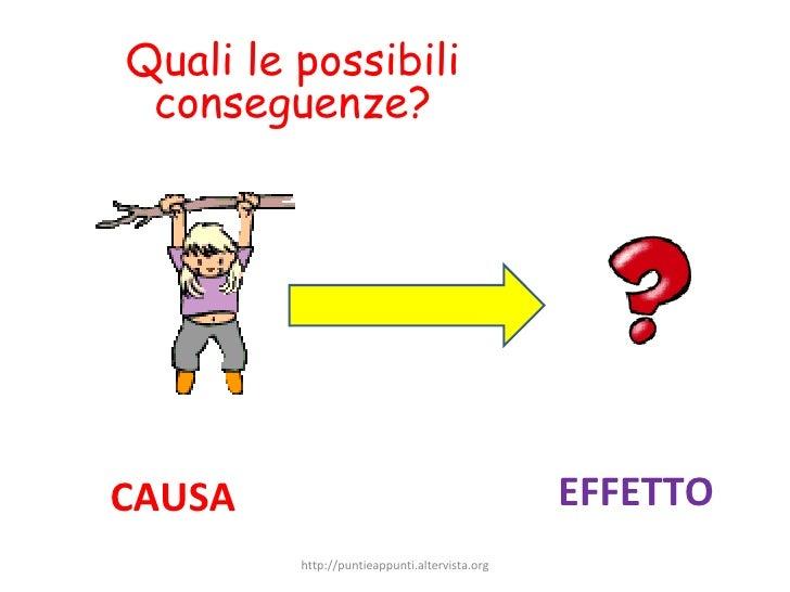 CAUSA EFFETTO Quali le possibili conseguenze? http://puntieappunti.altervista.org