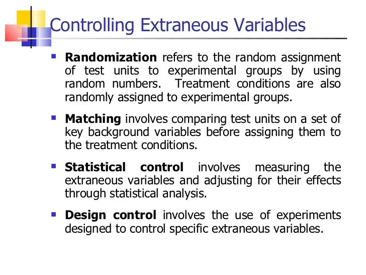 ... 13. Controlling Extraneous ...