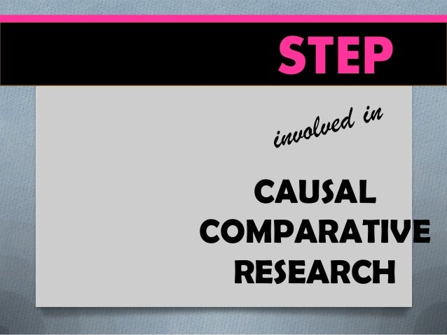 what is causal research Causal research, as explained by djs research ltd causal research explores the effect of one thing on another and more specifically, the effect of one variable on another the research is used to measure what impact a specific change will have on existing norms and allows market researchers to.