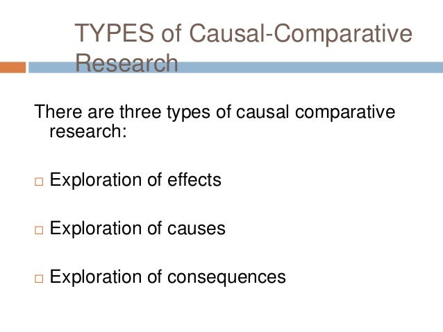 examples of causal research So far in our discussion of causal experiments, we have considered only examples designed by selecting a number of subjects (none of whom have the suspected causal.