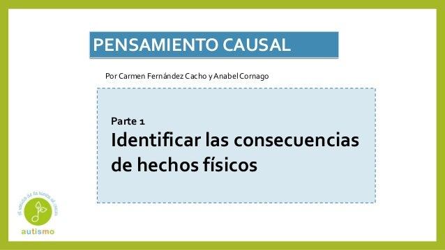 PENSAMIENTO CAUSAL Parte 1 Identificar las consecuencias de hechos f�sicos Por Carmen Fern�ndez Cacho y Anabel Cornago