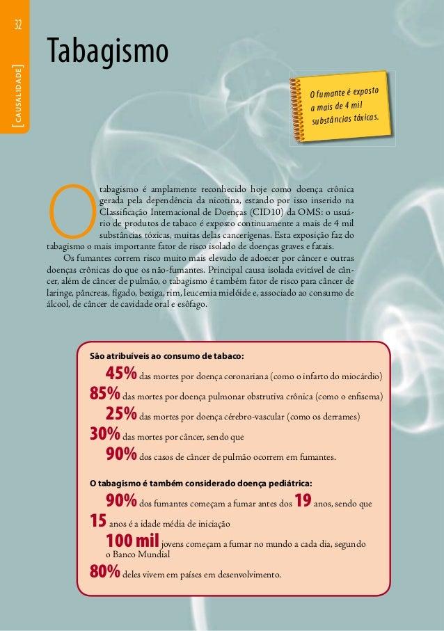 32  [CAUSALIDADE]  Tabagismo  O tabagismo é amplamente reconhecido hoje como doença crônica  gerada pela dependência da ni...
