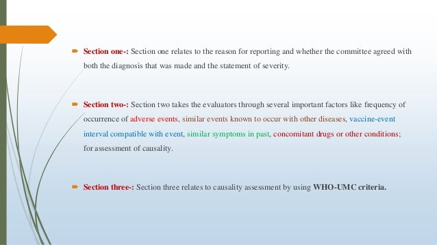  Section one-: Section one relates to the reason for reporting and whether the committee agreed with both the diagnosis t...
