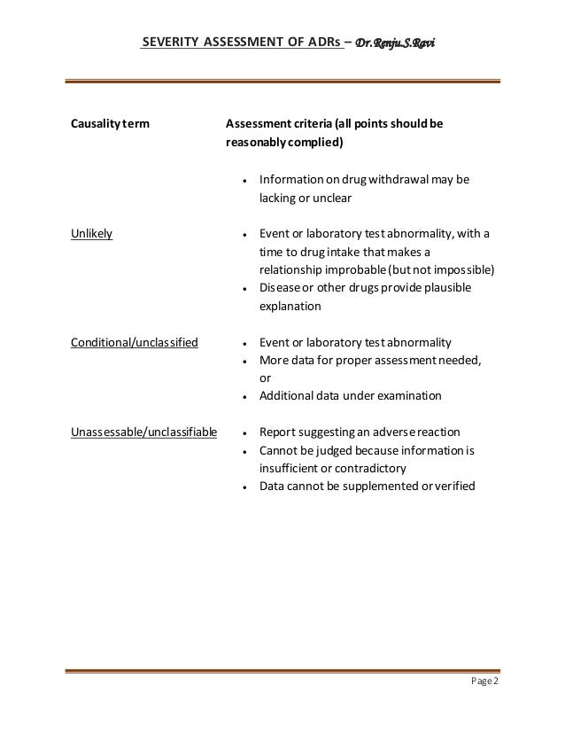 Causality assessment scales Slide 2