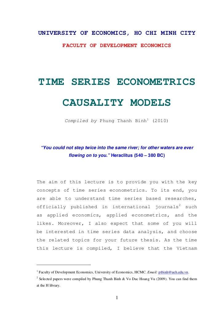 UNIVERSITY OF ECONOMICS, HO CHI MINH CITY                    FACULTY OF DEVELOPMENT ECONOMICS    TIME SERIES ECONOMETRICS ...