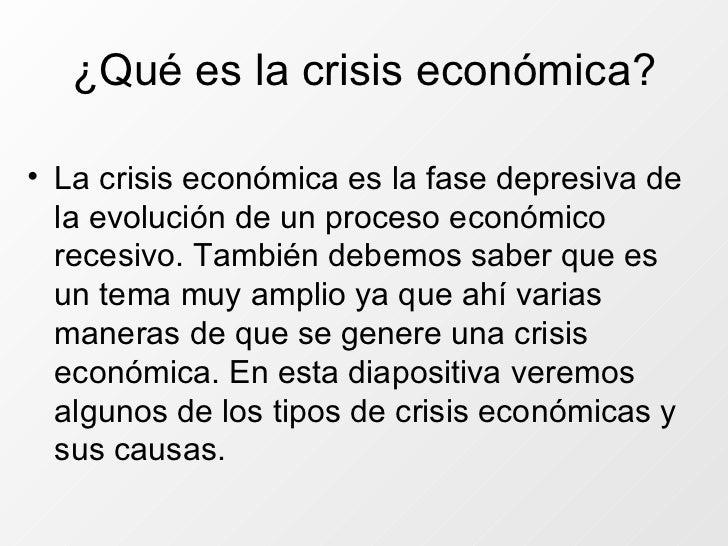 Causas de la crisis econ mica - Tipos de calefaccion economica ...