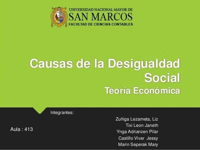 causas de la desigualdad social