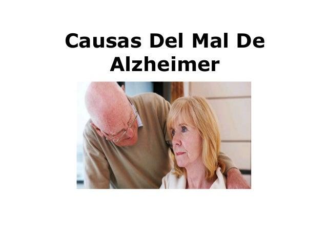 Causas Del Mal De Alzheimer