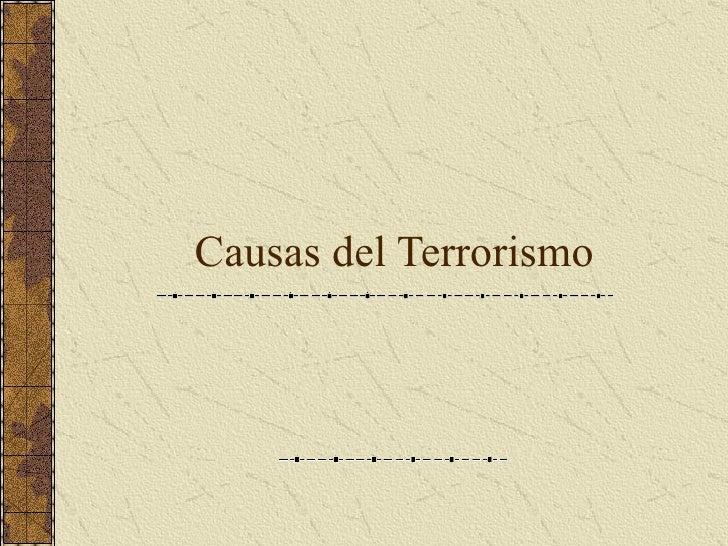 Causas del Terrorismo