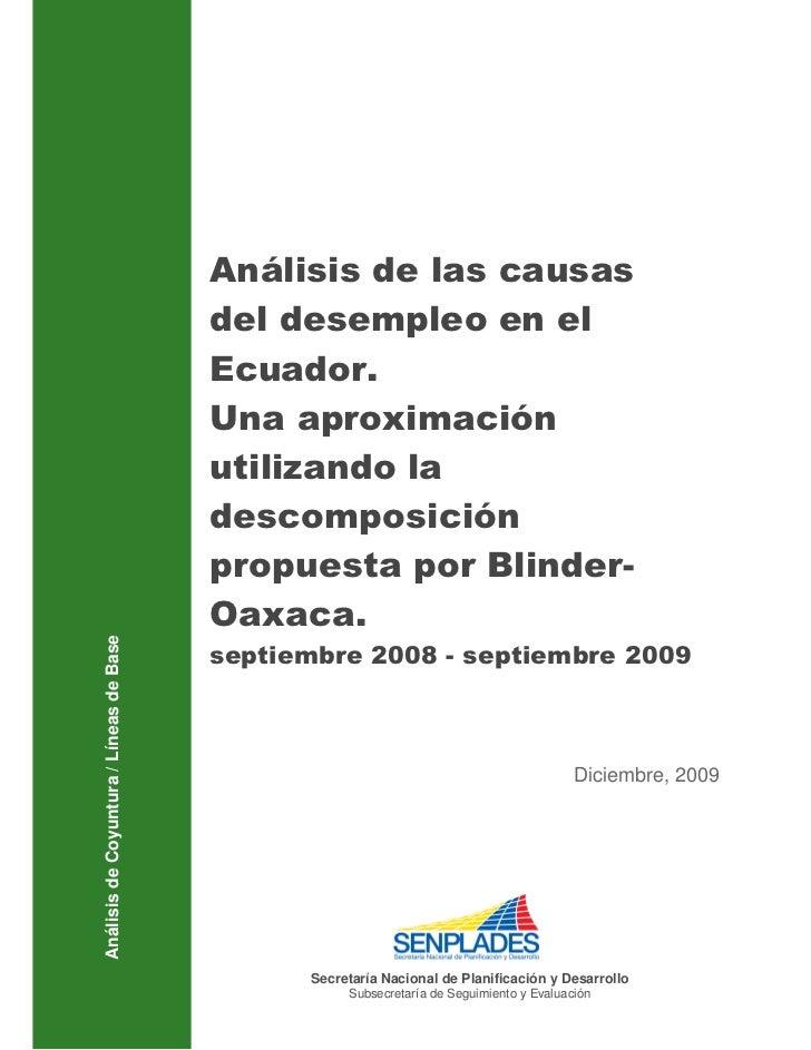 Análisis de las causas                                         del desempleo en el                                        ...