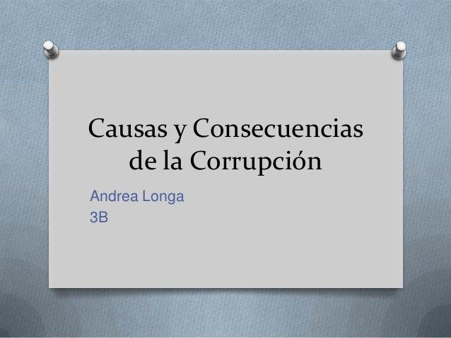 Causas y consecuencias de la corrupción