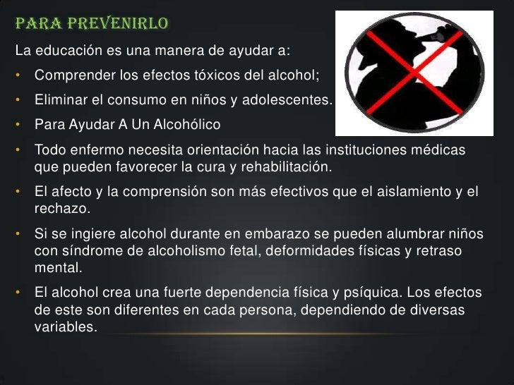 Que se manifiesta el alcoholismo