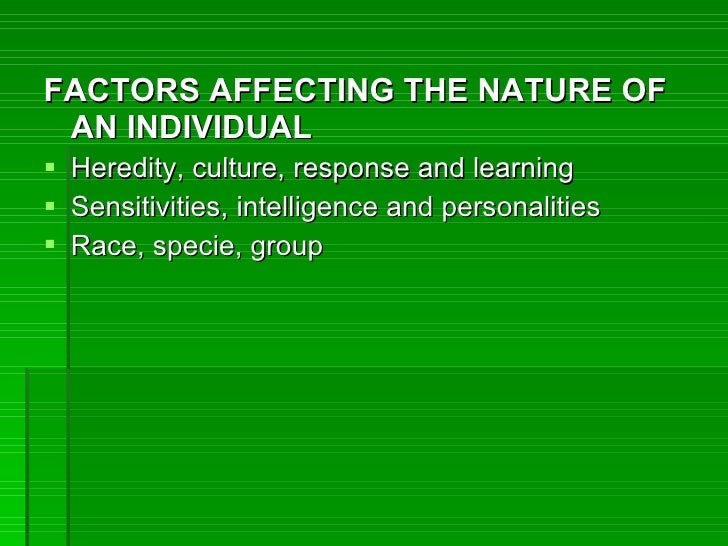 Heredity and environment psychology