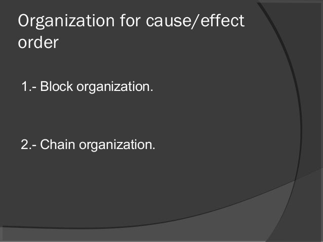 cause and effect essay 3 organization for cause effect