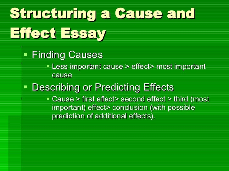 cause and effect essay  20 structuring a cause and effect essay