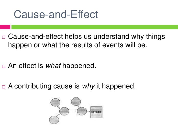 cause and effect analysis