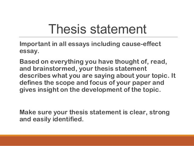 cause effect essay mass lecture  thesis