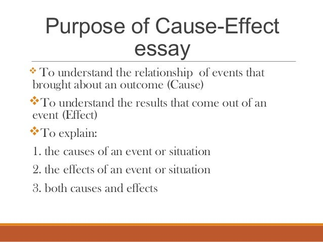cause effect essay mass lecture  purpose of cause effect essay