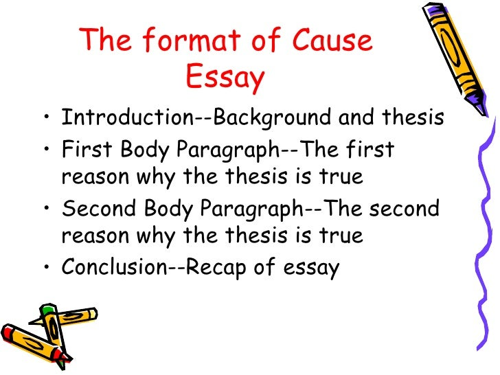 cause effect essay powerpoint new  the format of cause essay