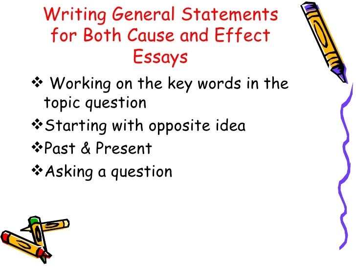 Ppt writing the cause and effect essay