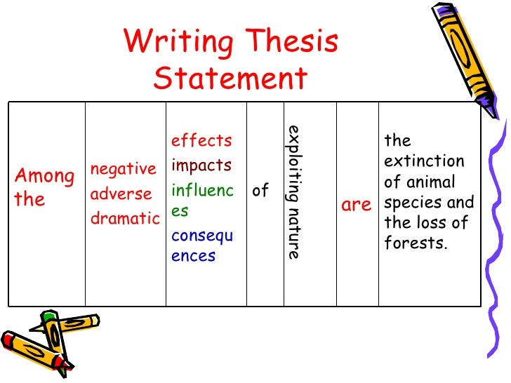 cause effect essay powerpoint new  writing thesis statement exploiting nature effects