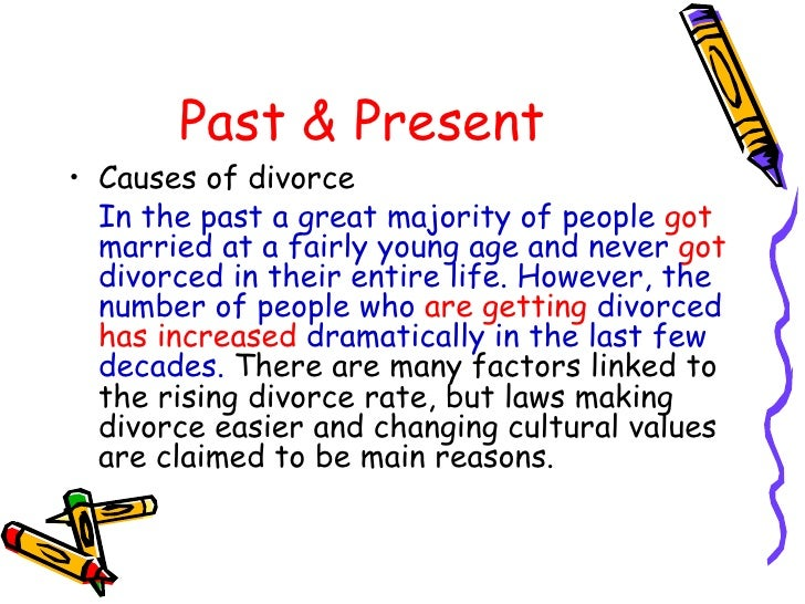 cause effect essay powerpoint new 8 past present• causes of divorce