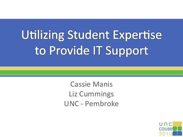 Cassie Manis Liz Cummings UNC - Pembroke