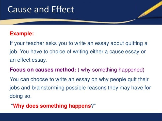 Effect Essays Cause And Effect Essay Definition Format Organization