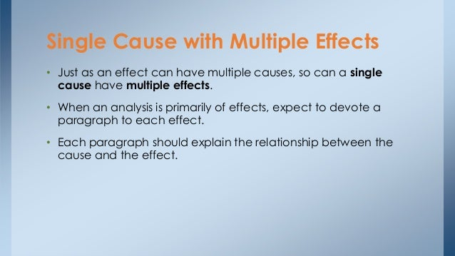 cause and effect essay explanation This lesson explores the relationship between cause and effect and teaches you about the criteria for establishing a causal relationship, the.