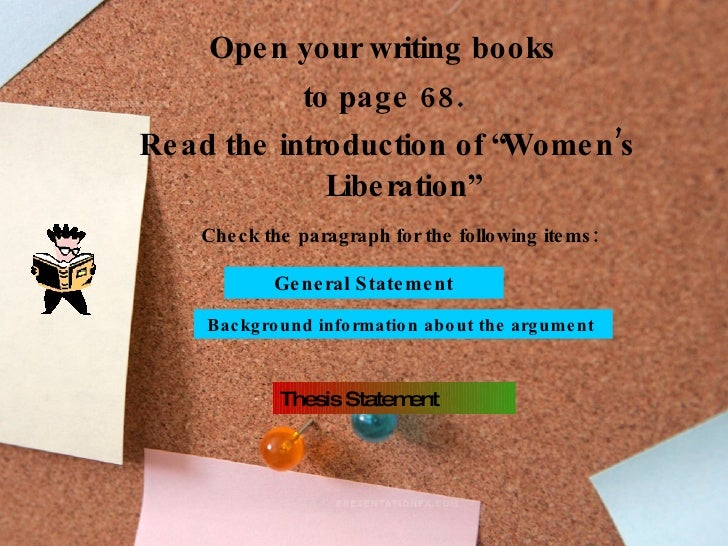 womens liberation essay The women's liberation movement of the 20th century  more essays like this: womens rights, the womens liberation movement, influence on  sign up to view the .
